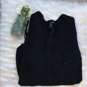 Aqua Tie-Up Sweater